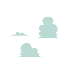 abstract sky blue clouds icon set vector image