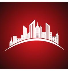 Abstract white real estate icon design vector