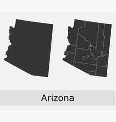 Arizona map counties outline vector