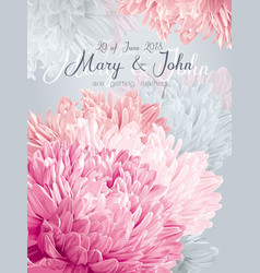 Aster wedding invitation card vector