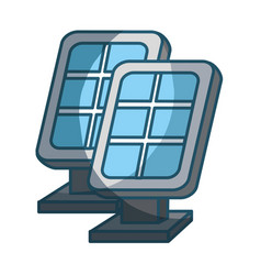Blue solar energy eco icon vector