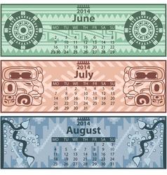 Calendar 2014 Summer vector