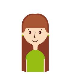 Cartoon woman icon vector