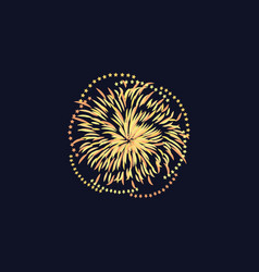 celebration event or festival firework vector image