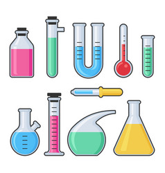chemistry science laboratory test glass tube vector image