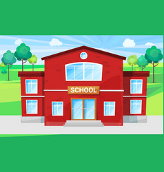 children school place for educating alma mater vector image