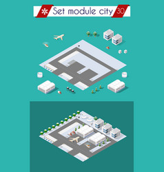 City airport with transport vector
