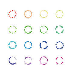 color circle reload arrows icons round vector image