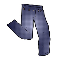 Comic cartoon jeans vector