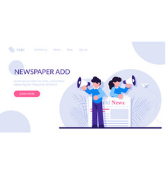 Concept commercial news broadcasting vector