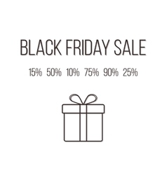 concept of black friday lettering with different vector image