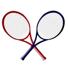 Crossed rackets vector