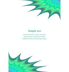 Curved star page corner design template vector image