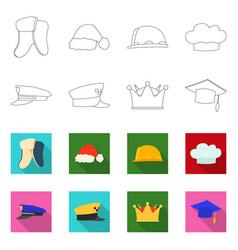 Design of headwear and cap logo set of vector