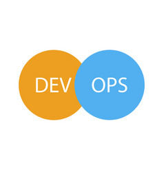 devops logotype sign of circles with arrows blue vector image