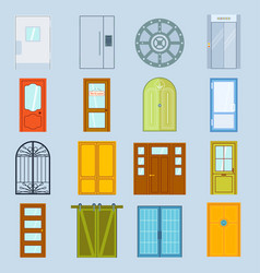 Doors design furniture elements doorway vector