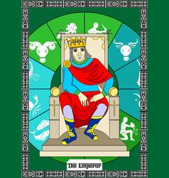 Emperor card vector
