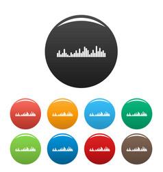 equalizer vibration icons set color vector image