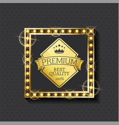 exclusive premium quality since year golden label vector image