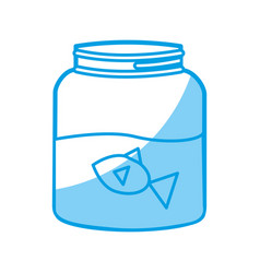 Fishbowl icon image vector