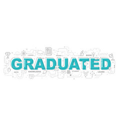 graduated icons for education graphic vector image