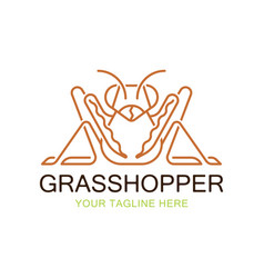 Grasshopper mantis logo vector