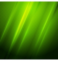 Green shiny hexagon texture background vector image