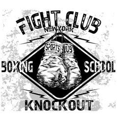 Handmade sketch athletics boxing gloves logo vector