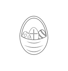 Happy easter of icon the easter eggs vector