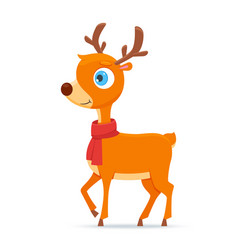 happy little deer vector image