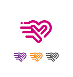 Heart icon logo vector