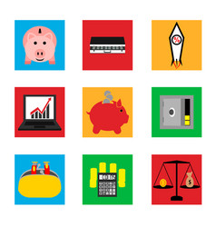 icons on business and finance vector image