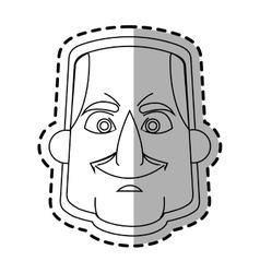 Isolated astronaut face cartoon design vector