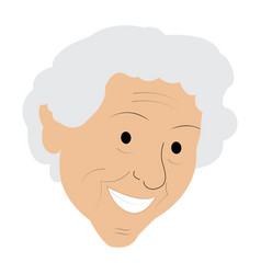 isolated old woman grandmother vector image