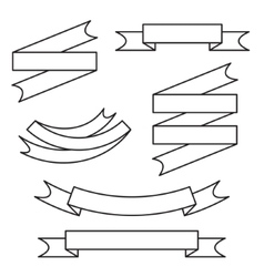 Line ribbon set vector image
