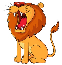 Lion roaring vector image