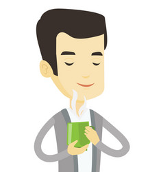 Man enjoying cup of coffee vector