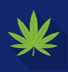 marijuana leaf icon in flat style isolated on vector image