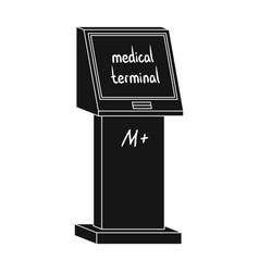 medical terminal terminals single icon in black vector image