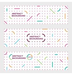 Minimalist advertizing banners vector