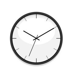 minimalistic white clock icon single isolated vector image