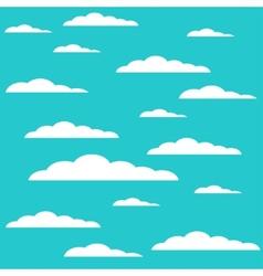 modern cloud design background vector image