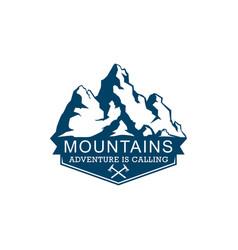 mountains logo logo mountains adventure is vector image