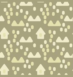 nordic village seamless pattern vector image