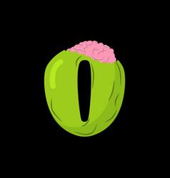 number 0 zombie monster font zero bones and vector image