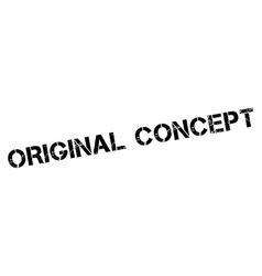 Original concept black rubber stamp on white vector