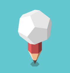 pencil with light bulb vector image