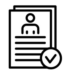 Personal data check icon outline style vector