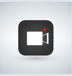 recording camera over application button vector image
