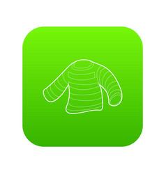 Seaman clothes icon green vector